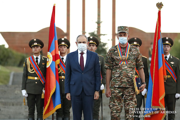 """Armenia's National Hero. Captain Ruben Samayan, after being awarded the """"Order of the Homeland"""" medal"""