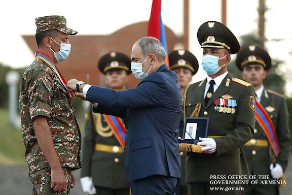 "Prime Minister Nikol Pashinyan awards ""Order of Homeland"" medal to Captain Ruben Sanamyan"