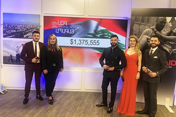 $1,375,555 was raised during the HyeAid Lebanon Telethon on Sunday
