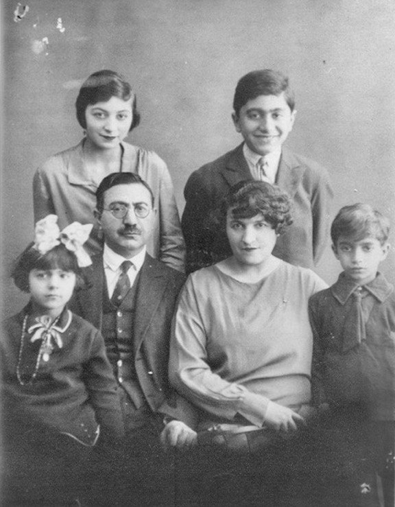 The author's grandparents and their family after settling in Paris