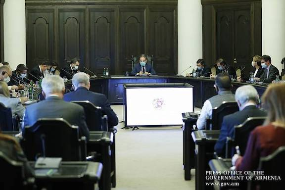 Prime Minister Nikol Pashinyan meets with foreign diplomats in Yerevan on Oct. 12