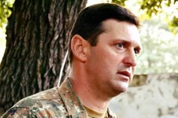 Artsakh's injured Commander of Armed Forces Lieutenant General Jalal Hautyunyan.