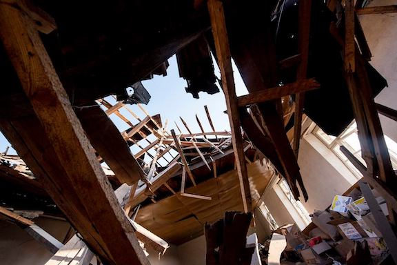 A house was damaged in Askeran during shelling of civilian settlements on Oct. 27