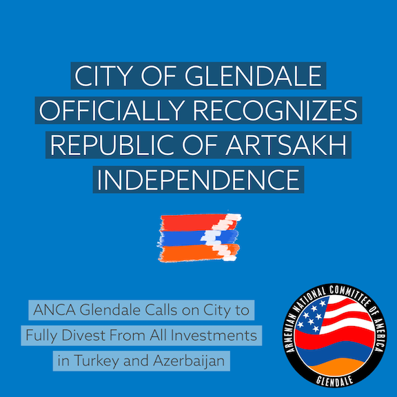 ANCA Glendale welcomes the city's recognition of Artsakh