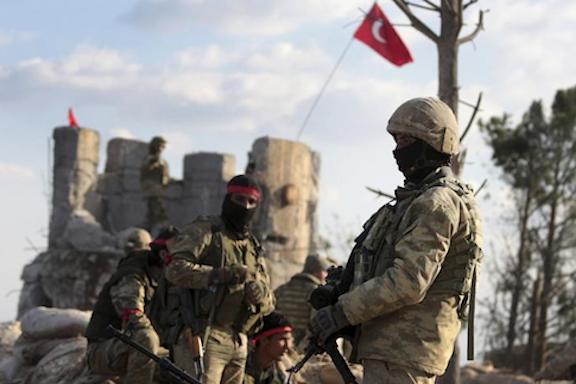 Ankara-backed Syrian mercenaries in Azerbaijan (AP photo)