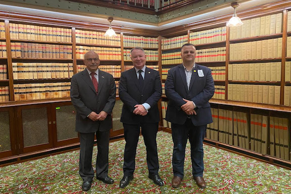 Lawmakers from New South Wales Legislative Assembly with ANC Australian chair Haig Kayserian (right)