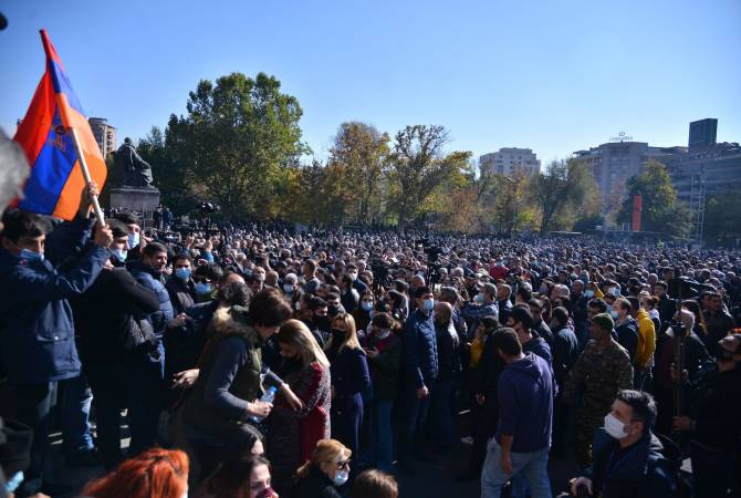 Opposition protest at Yerevan's Liberty Square on Nov. 11