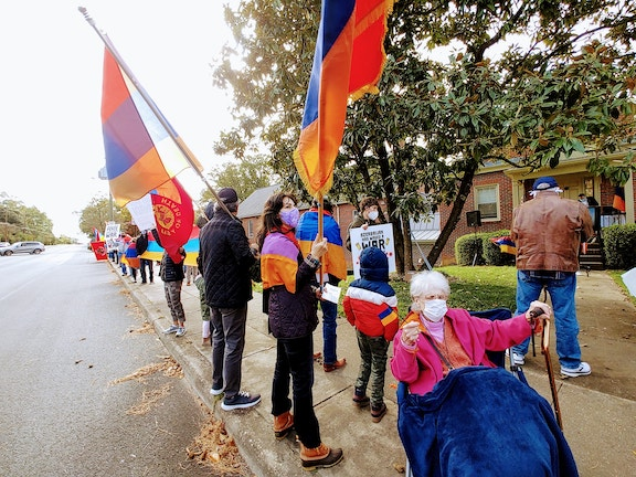 Armenians of Richmond rally in solidarity with Artsakh
