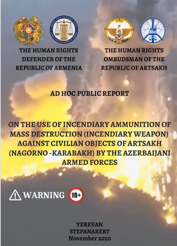 A report was issued detailing Azerbaijan's use of weapons of mass destruction against Artsakh