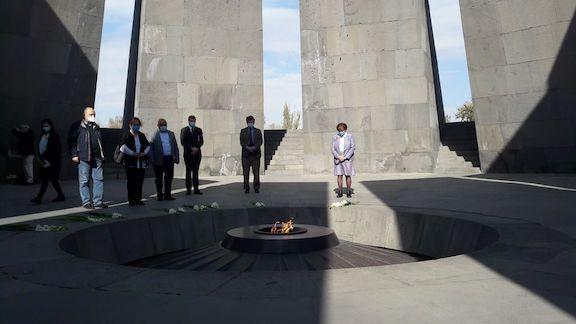 Baroness Cox at the Dzidzernagapert Armenian Genocide Memorial on Nov. 13