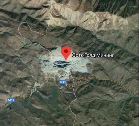 A border demarcation shows that half of Sotk gold mine falls under Azerbaijani control.