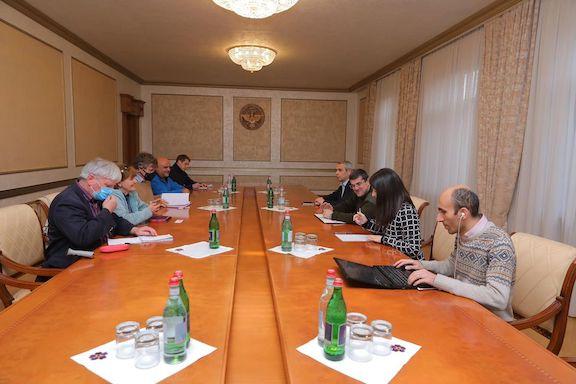 Baroness Cox meets with Artsakh President Arayik Harutyunyan in Stepanakert on Nov. 14