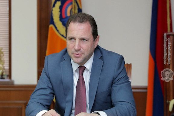 Defense Minister Davit Tonyan resigned on Nov. 20