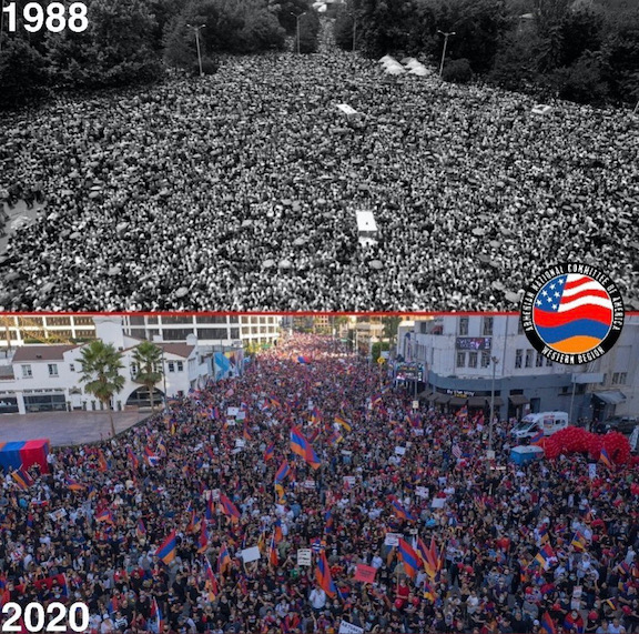 In 1988 and again in 2020 Armenians rise up to defend Artsakh