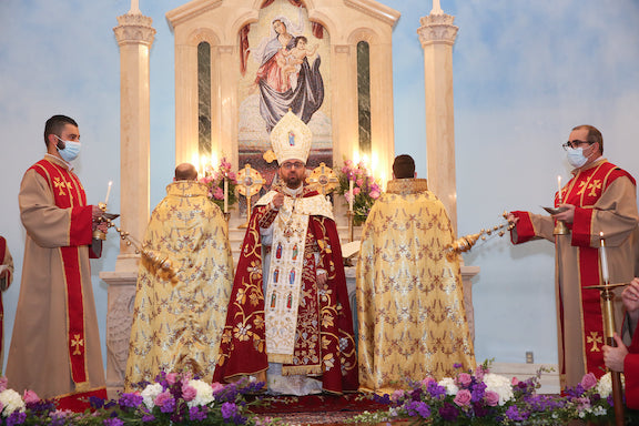 Western Prelate Bishop Torkom Donoyan during his inaugural Mass and sermon on Jan 5.