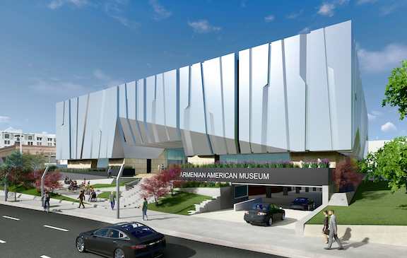 An architect's rendering of the Armenian American Museum