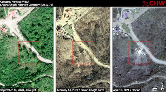 Centuries-Old Armenian Cemetery Near Shushi Partially Destroyed