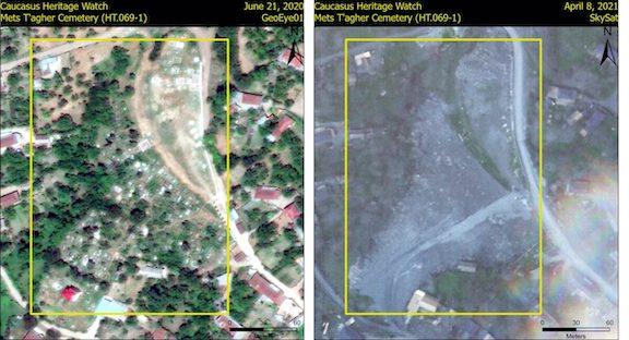 Artsakh Accuses Azeris of Using Armenian Gravestones for Construction