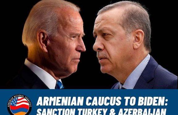 Armenian Caucus Demands Sanctions on Turkey and Azerbaijan ahead of Biden-Erdogan Meeting