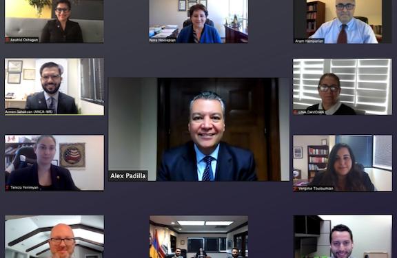 ANCA-WR Board Meets With Senator Alex Padilla