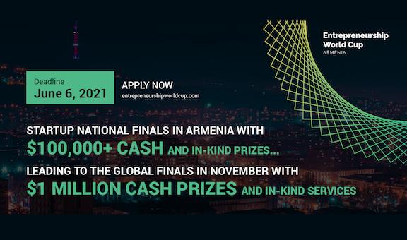 Entrepreneurship World Cup Armenia Prize Fund Surpasses $100,000