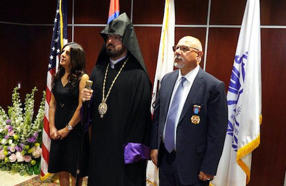 Aram I Awards 'Cilician Prince' Medal to Garo and Sosse Eshgian