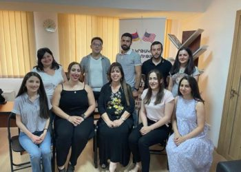 Barigian Family Foundation Meets with Sponsored Students in Yerevan