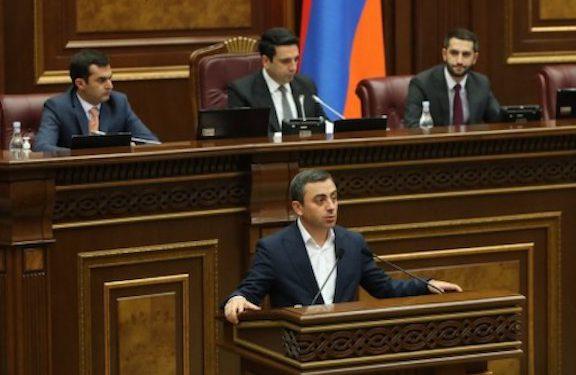 Saghatelyan Elected Deputy Speaker of Parliament