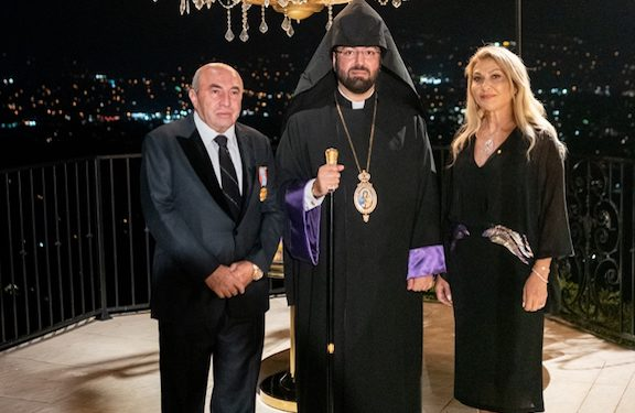 At Reception to Honor Prelate, Bedig and Maro Fermanian Awarded 'Knight Of Cilicia' Medal