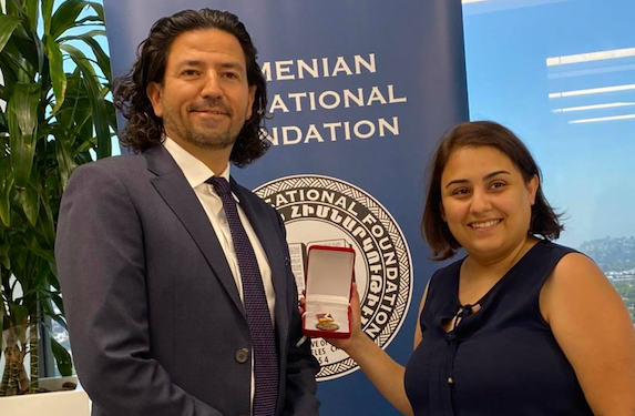 AEF Awarded Gratitude Medal by President of Artsakh