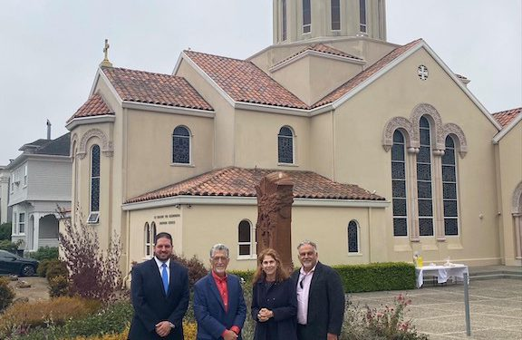 Portantino Visits San Francisco's St. Gregory Armenian Church, Tours Site of Recent Arson Attack & Hate Crimes