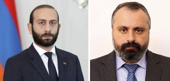 Armenia, Artsakh Foreign Ministers Stress Need for Resuming Karabakh Talks