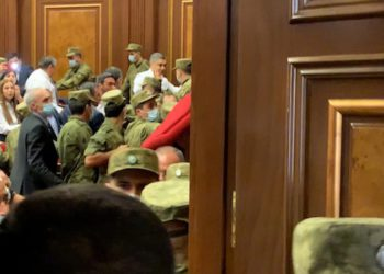 Brawl in Parliament After Opposition Lawmaker is Removed for Challenging Pashinyan