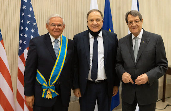 Cyprus President Awards Menendez with High Honor