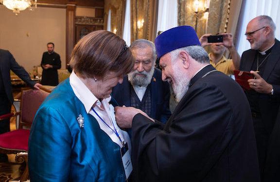 Baroness Cox Awarded 'St. Sahak-Mesrop'  Medal by Catholicos Karekin II